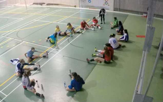 Final de la sesión, con ejercicios de estiramiento.