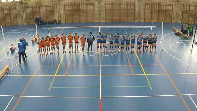 San Ignacio CV Oviedo Voleibol Calentamiento